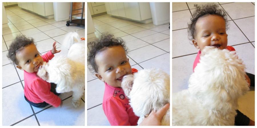 Zoe and dog